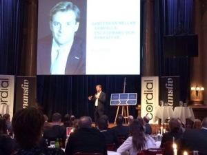 Michael Wolf, koncernchef på Swedbank, talade om samhällsansvar på Business Model Finance.