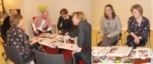 Finansliv skapas på designmöte med Anna Lundin, då A4 och Jonas Melcherson, då W4. På bilderna även Stefan Ahlqvist, Johan Jeppsson, BrittMari Lantto och Unn Edberg