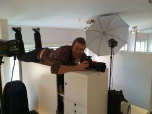 Vår meste fotograf Johan Marklund i skottläge.