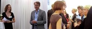 Jag intervjuade Anders Sundström, då på Folksam, på releasefesten. Och Åsa Berner, Finansliv, pratar med Annika Falkengren, SEB på minglet.